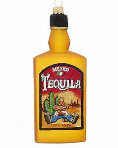 Tequila Bottle - Personalized Ornament