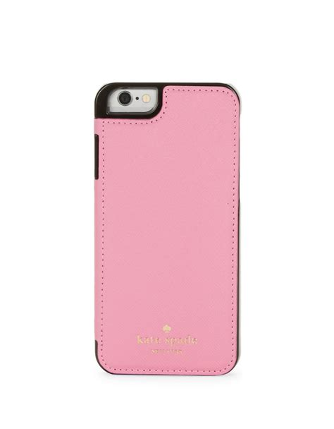 kate spade iphone cases kate spade new york leather folio iphone 6 in pink lyst