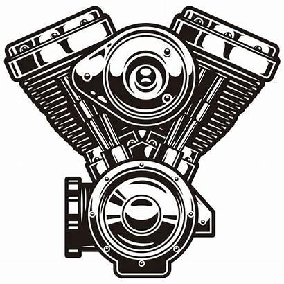 Harley Davidson Engine Motor Evolution Stickers Sticker