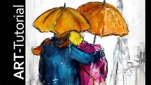 Gemalte Bilder Auf Leinwand : tutorial malen mit isabelle abstrakte figuren im regen auf ~ A.2002-acura-tl-radio.info Haus und Dekorationen