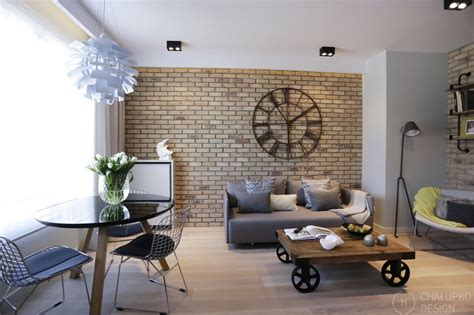 modern interior design post industrial apartment in warsaw exhibiting a clean and Industrial