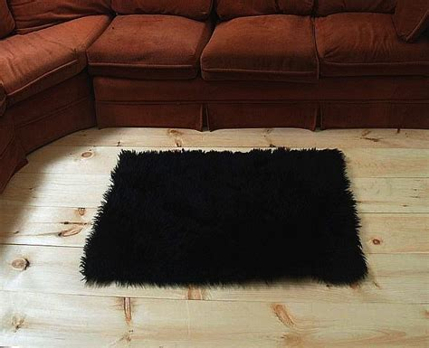 small faux fur rug faux fur area rug black small other rugs carpets