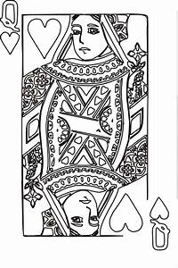 Queen Of Hearts Coloring Page 3 Clip Art at Clker.com ...
