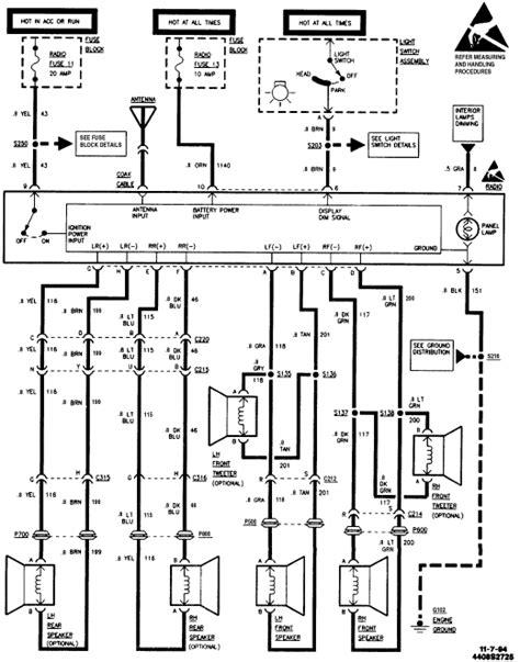 1999 Chevy Blazer Factory Radio Wiring Diagram 1999 Chevy Blazer ...