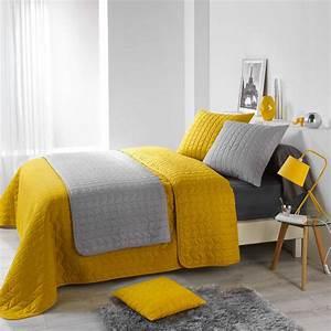 Couvre Lit Matelassé Ikea : couvre lit 220 x 240 cm erika jaune miel couvre lit boutis eminza ~ Melissatoandfro.com Idées de Décoration