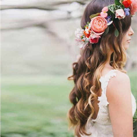 Romantic Bohemian Wedding Flower Headband Bridal Headpiece