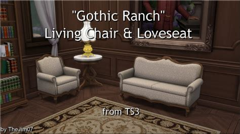 Sims 4 fireplaces, roofs & stairs cc downloads   page 2 of 8 sims pets horse ranch sims 3 mods poses pets animals horses the sims 3 pets. Lana CC Finds - Gothic Ranch Living Chair & Loveseat by TheJim07...