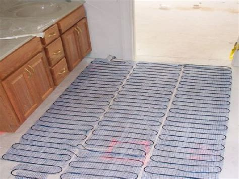 Heated Bathroom Floor Systems Heated Flooring Cost Alyssamyers