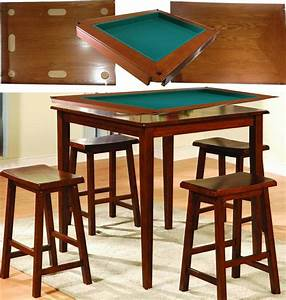 Harvard, 5, Piece, Family, Game, Table, Square, High, Pub, Set, Bar, Game, Room, With, Stool
