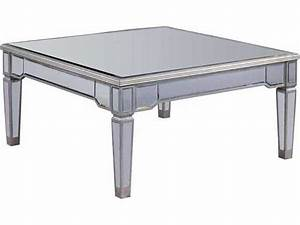 elegant lighting florentine silver clear mirror 38 With 38 square coffee table