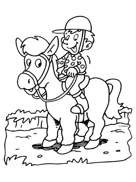 Paardrijden Kleurplaat by Ruiter Paardrijden Knutselpagina Nl Knutselen