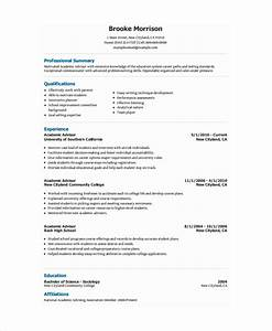Academic resume template 6 free word pdf document for Academic resume examples