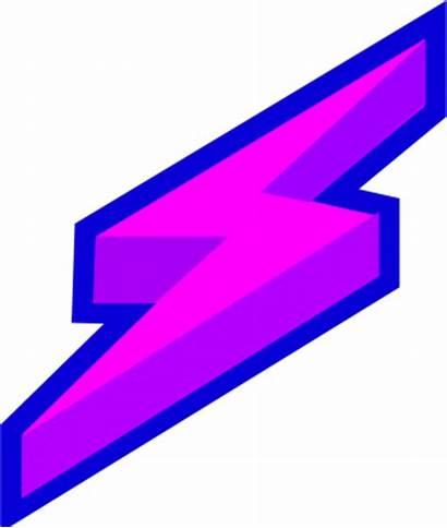 Lightning Bolt Purple Clipart Lighting Vector Thunder