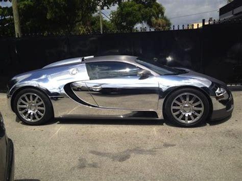 Rapper Flo Rida Wraps Bugatti Veyron In Chrome, Then Gets
