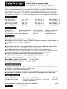 sales manager resume example With best sales manager resume