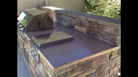image of fireplace surround ideas outdoor bbq island outdoor kitchen concrete countertop
