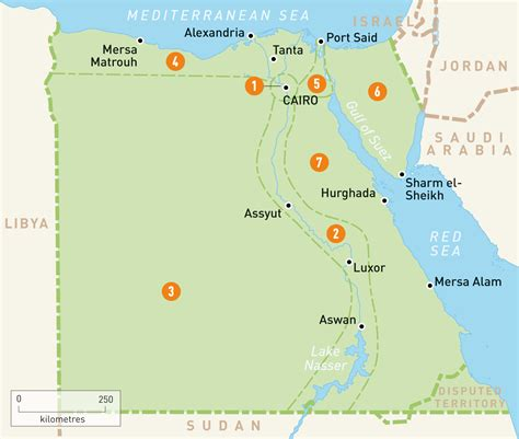 map  egypt egypt regions rough guides