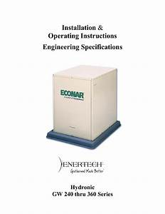 Econar Geosource 2000 Operating Instructions