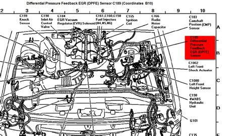98 Explorer Engine Diagram by Where Is The Dpfe Sensor On A 1997 Murcury Mountaineer