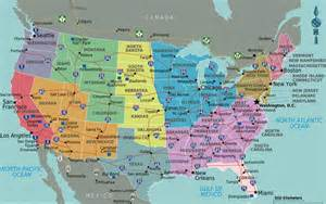 Midwest Maps with States and Cities