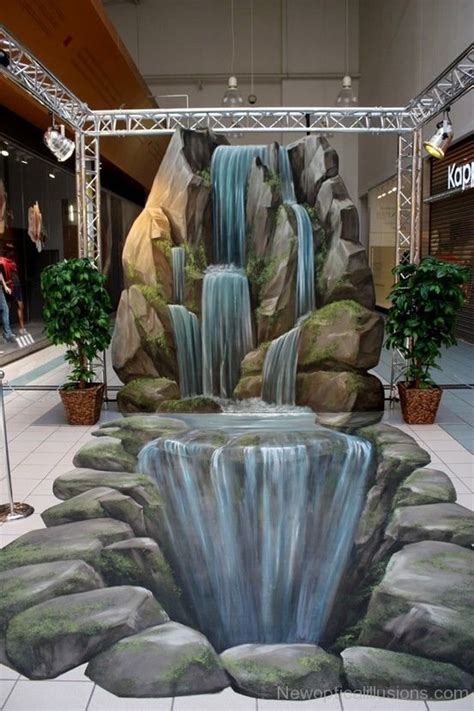 waterfall effect illusion 3d chalk drawings page 2