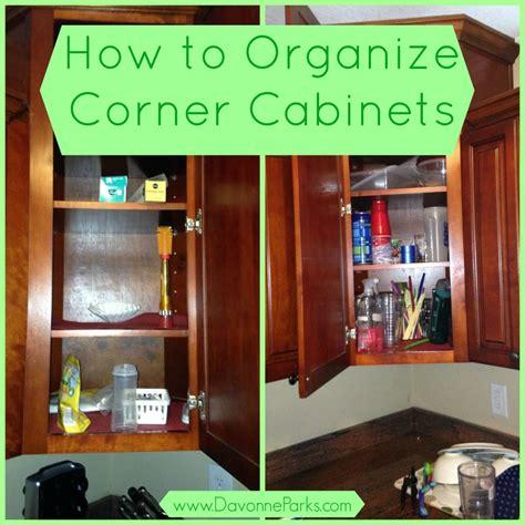organizing corner kitchen cabinets how to organize corner cabinets davonne parks 3791
