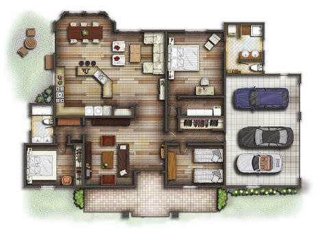 interior floor plans digital portfolio plan section rendering research