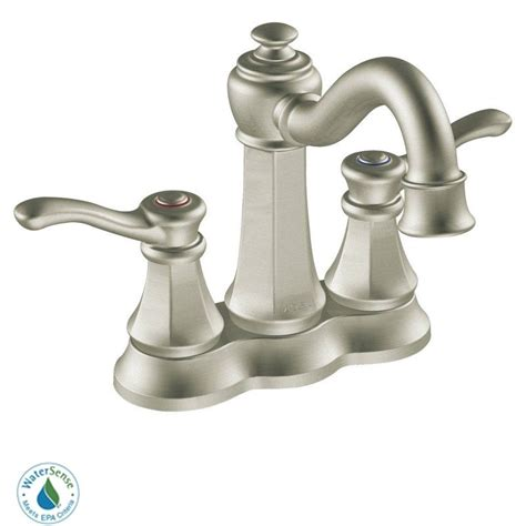 brushed nickel bathroom sink faucet faucet com 6301bn in brushed nickel by moen