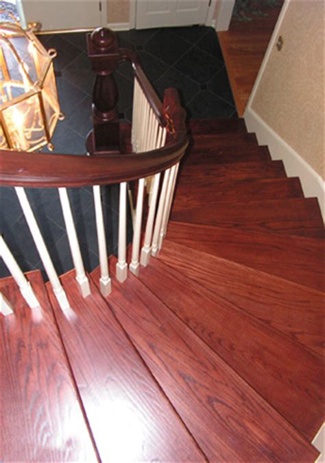 curved staircase  custom turned newel post kc wood