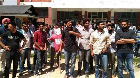 student protest resumes in pu council prez secy