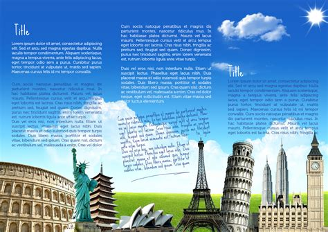 tourism bureau travel brochure template travel brochures