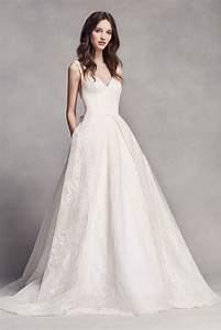 extra length lace white by vera wang v neck wedding dress With wedding dresses for petite brides vera wang
