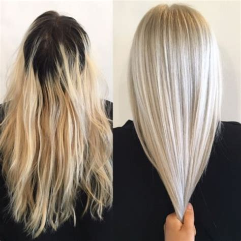 grown   home bleach job  healthy platinum platinum blonde hair hair styles blonde hair