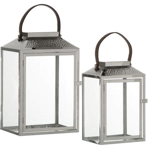 Chrome Candle Lantern by 2 Chrome Metal Lantern Candle Holder