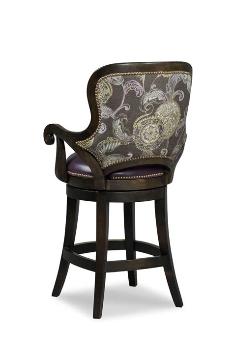 Stool With Arms Buy Fairfield S Wood Swivel Barstool 30 Quot W Arms