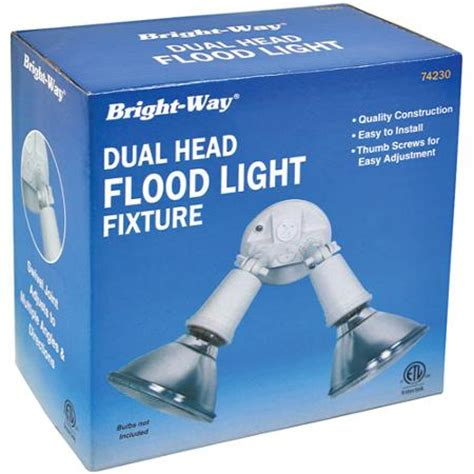 bright way 74230 dual outdoor flood light fixture