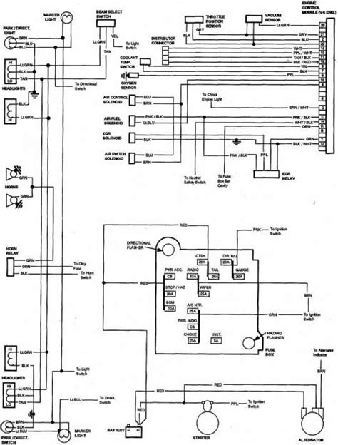1985 C30 Fuse Box by 85 Chevy Truck Wiring Diagram Chevrolet Truck V8 1981