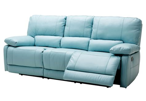 blue leather reclining sofa blue reclining sofa thesofa