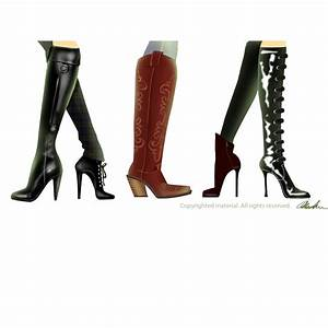 Fashion boots illustration