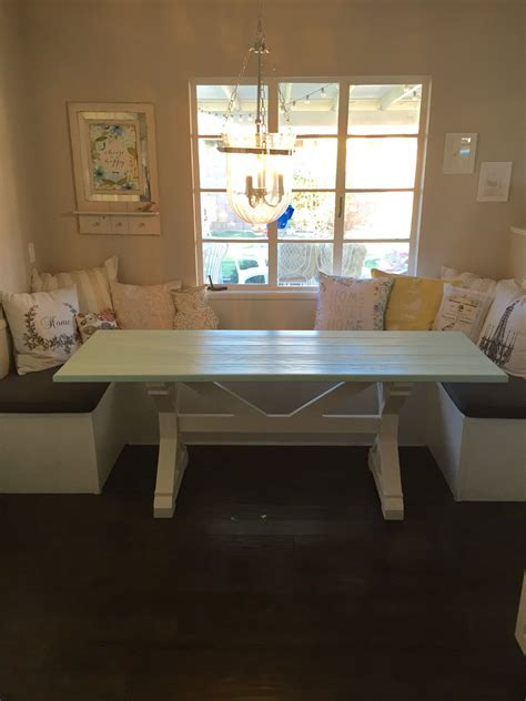 Hand Made (27x77) Farmhouse Table For Breakfast Nook by