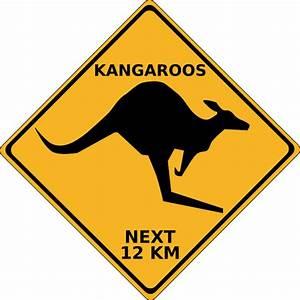 Crossing Kangaroo Sign Clip Art at Clker.com - vector clip ...