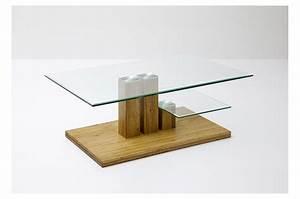 Table Basse Verre Bois : table basse en verre et bois massif cbc meubles ~ Teatrodelosmanantiales.com Idées de Décoration