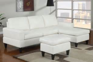 simple small living room decoration ideas with white leather sectional sleeper sofa with chaise