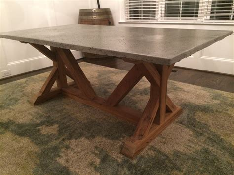cement top dining table concrete top dining room table