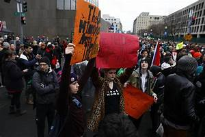Protesters out in force at entrance to National Mall - The ...