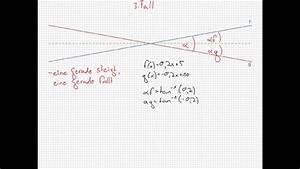 R V Autoversicherung Berechnen : schnittwinkel zweier geraden berechnen youtube ~ Themetempest.com Abrechnung