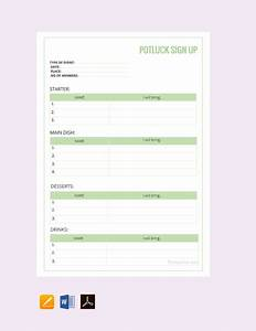 Thanksgiving Potluck Signup Sheet Free Potluck Sign Up Sheet Template Pdf Word Doc