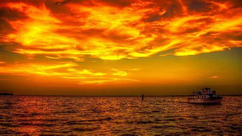 ship   sunset hd wallpaper background image