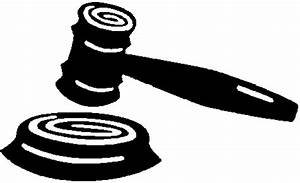 Gavel Black And White Clipart - Clipart Suggest