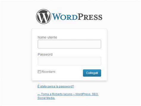 Cambiare Login Form In Wordpress Con Logo E Grafica